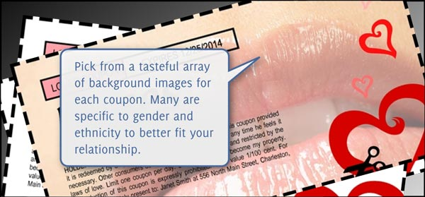 ... Sex Coupons - Background Customization ...