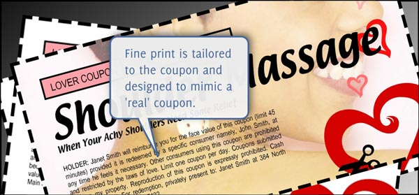 Sex Coupons - Fine Print Customization